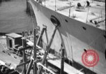 Image of Repairing damaged bow of Italian destroyer Ugolino Vivaldi Italy, 1940, second 4 stock footage video 65675043843