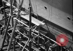 Image of Repairing damaged bow of Italian destroyer Ugolino Vivaldi Italy, 1940, second 6 stock footage video 65675043843