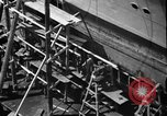 Image of Repairing damaged bow of Italian destroyer Ugolino Vivaldi Italy, 1940, second 7 stock footage video 65675043843