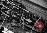 Image of Repairing damaged bow of Italian destroyer Ugolino Vivaldi Italy, 1940, second 8 stock footage video 65675043843