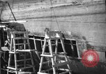 Image of Repairing damaged bow of Italian destroyer Ugolino Vivaldi Italy, 1940, second 12 stock footage video 65675043843