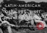 Image of Latin-American officers Edgewood Arsenal Maryland USA, 1942, second 5 stock footage video 65675043870
