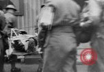 Image of wounded British soldier on stretcher United Kingdom, 1940, second 8 stock footage video 65675043882