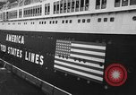 Image of SS America Ship New York City USA, 1941, second 7 stock footage video 65675043887