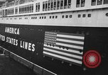Image of SS America Ship New York City USA, 1941, second 8 stock footage video 65675043887