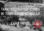 Image of Tank Destroyer troops Camp Hood Texas USA, 1942, second 6 stock footage video 65675043906