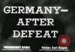 Image of Germany after defeat Germany, 1945, second 6 stock footage video 65675043950