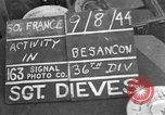 Image of 35th Infantry Division Besancon France, 1944, second 1 stock footage video 65675044006