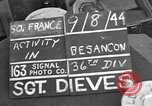Image of 35th Infantry Division Besancon France, 1944, second 2 stock footage video 65675044006