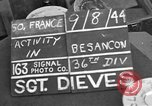 Image of 35th Infantry Division Besancon France, 1944, second 3 stock footage video 65675044006