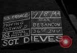 Image of 35th Infantry Division Besancon France, 1944, second 3 stock footage video 65675044008