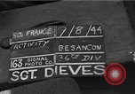 Image of 36th Infantry Division Besancon France, 1944, second 3 stock footage video 65675044009