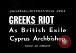 Image of anti-British riots Athens Greece, 1950, second 1 stock footage video 65675044011