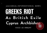 Image of anti-British riots Athens Greece, 1950, second 4 stock footage video 65675044011