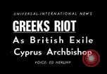 Image of anti-British riots Athens Greece, 1950, second 5 stock footage video 65675044011