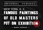 Image of Italian art display New York United States USA, 1940, second 1 stock footage video 65675044061