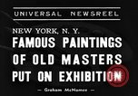 Image of Italian art display New York United States USA, 1940, second 2 stock footage video 65675044061