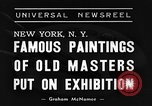 Image of Italian art display New York United States USA, 1940, second 4 stock footage video 65675044061