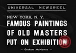 Image of Italian art display New York United States USA, 1940, second 5 stock footage video 65675044061