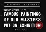 Image of Italian art display New York United States USA, 1940, second 6 stock footage video 65675044061