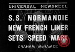 Image of SS Normandie New York United States USA, 1935, second 1 stock footage video 65675044070