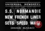 Image of SS Normandie New York United States USA, 1935, second 8 stock footage video 65675044070