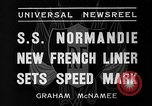 Image of SS Normandie New York United States USA, 1935, second 12 stock footage video 65675044070