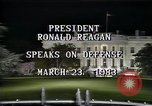 Image of President Ronald Reagan Washington DC USA, 1983, second 4 stock footage video 65675044180
