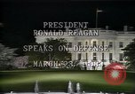 Image of President Ronald Reagan Washington DC USA, 1983, second 9 stock footage video 65675044180