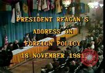 Image of President Ronald Reagan Washington DC USA, 1981, second 6 stock footage video 65675044189
