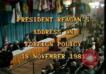 Image of President Ronald Reagan Washington DC USA, 1981, second 8 stock footage video 65675044189