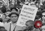 Image of Crowd assembles for third Selma to Montgomery march Selma Alabama USA, 1965, second 2 stock footage video 65675044200