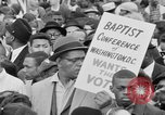 Image of Crowd assembles for third Selma to Montgomery march Selma Alabama USA, 1965, second 4 stock footage video 65675044200