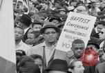 Image of Crowd assembles for third Selma to Montgomery march Selma Alabama USA, 1965, second 5 stock footage video 65675044200