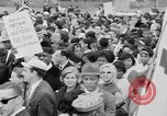Image of Crowd assembles for third Selma to Montgomery march Selma Alabama USA, 1965, second 10 stock footage video 65675044200