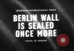 Image of Berlin Wall Germany, 1964, second 2 stock footage video 65675044213