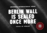 Image of Berlin Wall Germany, 1964, second 4 stock footage video 65675044213