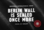 Image of Berlin Wall Germany, 1964, second 5 stock footage video 65675044213