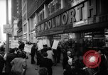 Image of Civil Rights demonstration against FW Woolworth stores New York City USA, 1962, second 2 stock footage video 65675044239