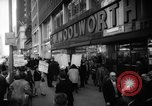 Image of Civil Rights demonstration against FW Woolworth stores New York City USA, 1962, second 3 stock footage video 65675044239