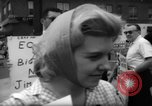 Image of protesters New York City USA, 1962, second 11 stock footage video 65675044240