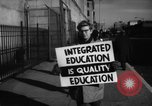 Image of Supporters of Integrated schools United States USA, 1962, second 7 stock footage video 65675044241