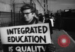 Image of Supporters of Integrated schools United States USA, 1962, second 8 stock footage video 65675044241