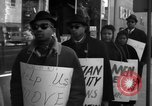 Image of African Americans picket a Cafeteria in New York City United States USA, 1960, second 8 stock footage video 65675044244