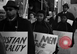 Image of African Americans picket a Cafeteria in New York City United States USA, 1960, second 10 stock footage video 65675044244