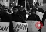 Image of African Americans picket a Cafeteria in New York City United States USA, 1960, second 11 stock footage video 65675044244
