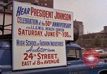 Image of President Lyndon B Johnson New York City USA, 1964, second 3 stock footage video 65675044254