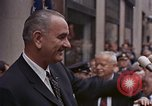Image of President Lyndon B Johnson New York City USA, 1964, second 9 stock footage video 65675044254