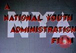 Image of National Youth Administration United States USA, 1940, second 4 stock footage video 65675044260