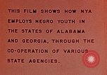 Image of National Youth Administration United States USA, 1940, second 10 stock footage video 65675044261